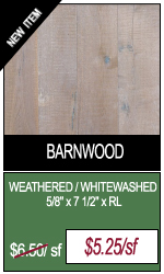 Weathered Whitewashed Barnwood Engineered Hardwood Flooring