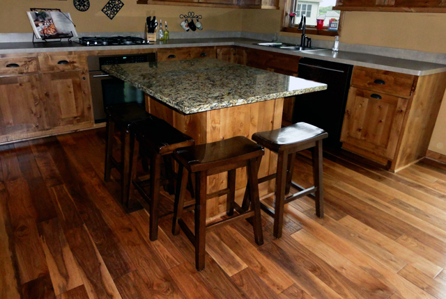 Hand Scraped Engineered Hardwood Flooring hand scraped flooring holds wide appeal for homeowners all over the country the variety of scraped visuals wood species and colors available means Black Walnut Hand Scraped Engineered Hardwood Flooring