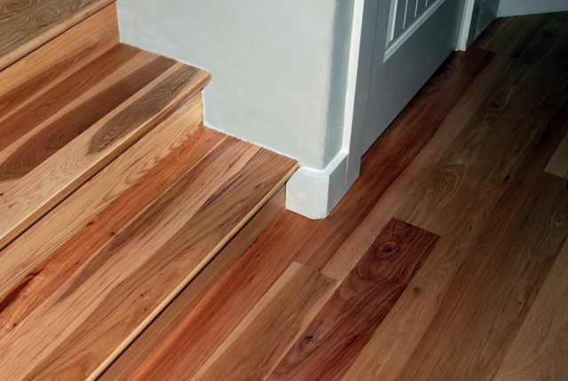 hickory stair treads and risers