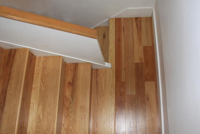 Hickory Stair Treads And Risers Esl Hardwood Floors