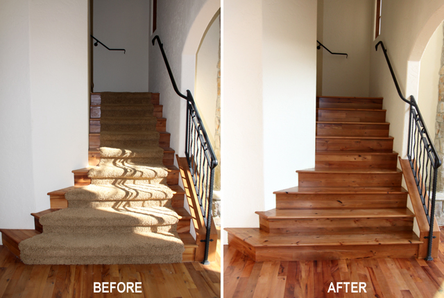 MADRONE STAIR TREADS AND RISERS