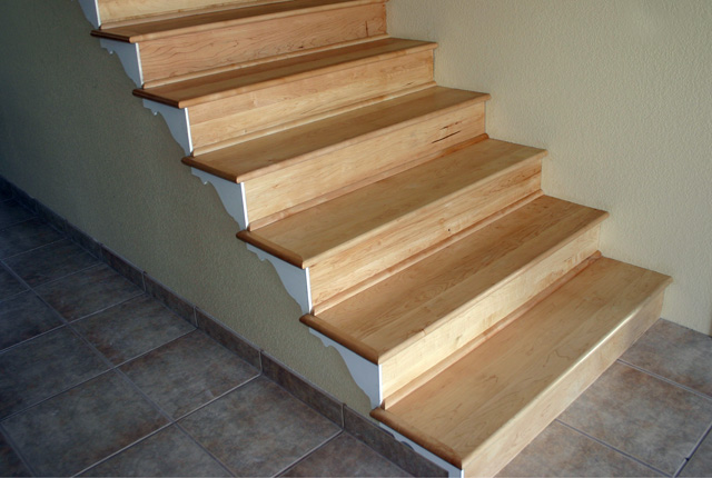 Captivating MAPLE STAIR TREADS AND RISERS