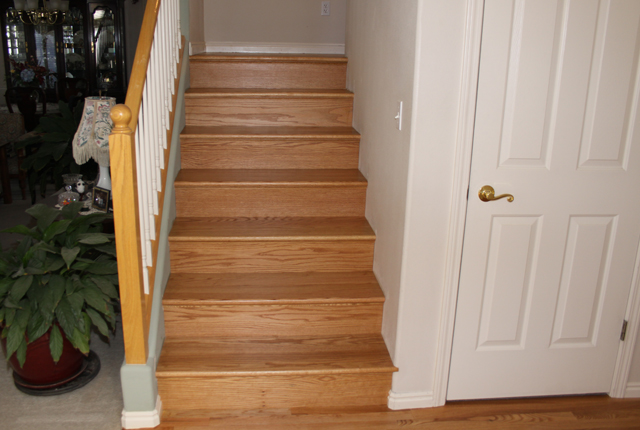 RED OAK STAIR TREADS AND RISERS