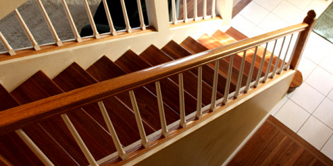 Mahogany Staircase Treads Risers 2856a