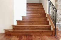 ESL Hardwood Floors Madrone Staircase