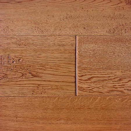 PREFINISHED SOLID OAK HARDWOOD FLOORING - SADDLE