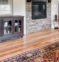 Rustic Hickory Hardwood Floor