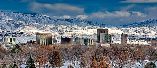 Beautiful Downtown Boise Idaho in Winter